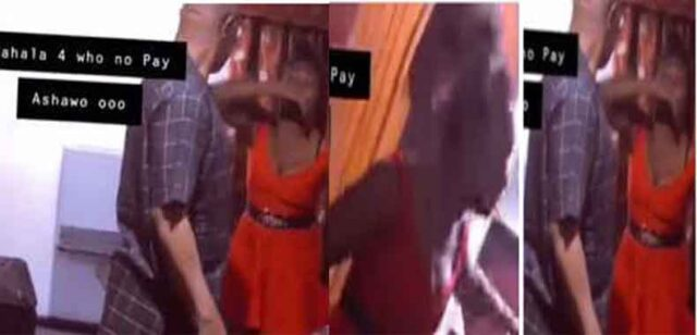 Alleged sex worker goes gaga after her client refuse to pay her (video)