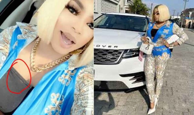 Bobrisky dragged for wearing torn inner bra while advising women on securing rich men (Video)