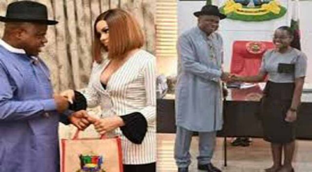 Gov. Diri yanks BBN's Nengi off as Face of Bayelsa Girl Child, replaces her with 1st class law graduate